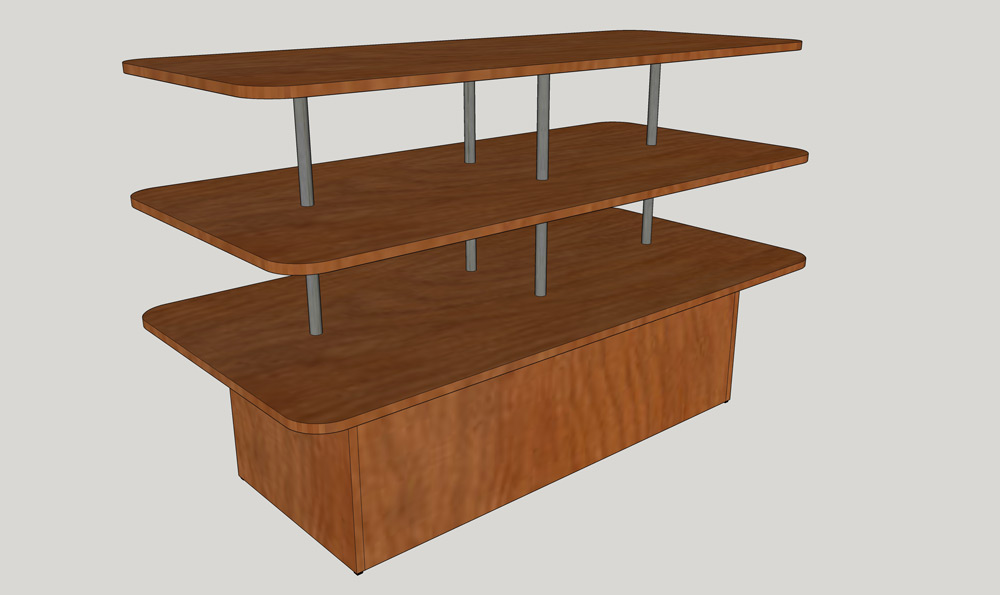 Bimbo-P.C.-Display-Table---Cake-Table-Tapered-CT3-60_Side-View