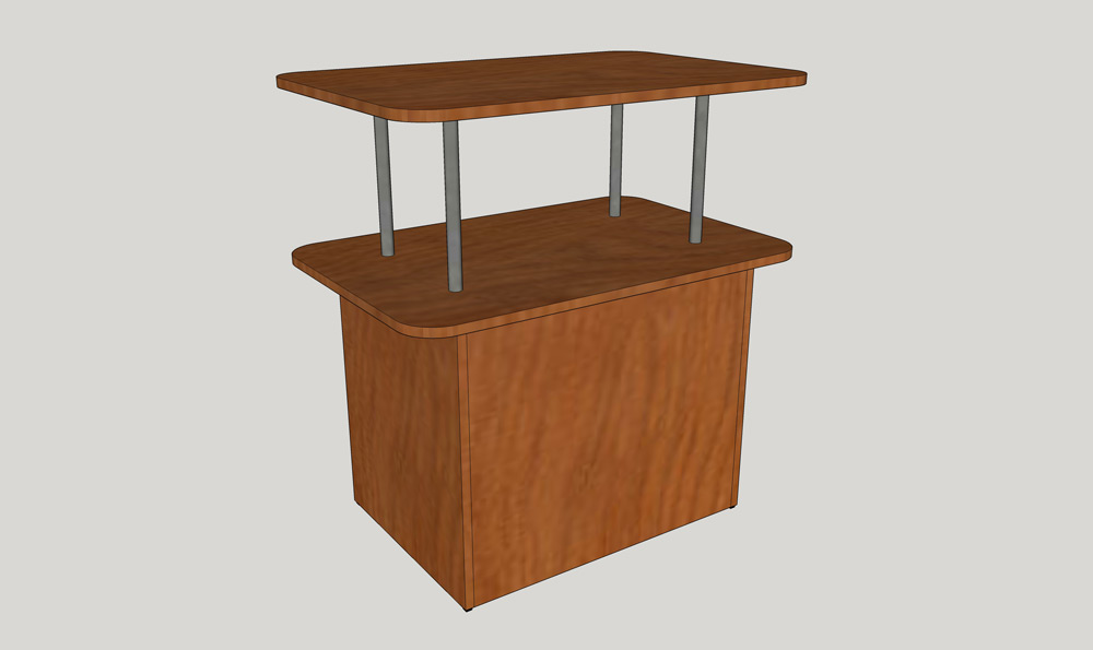 P.C.-Display-Table-DT2-36A_Side-View